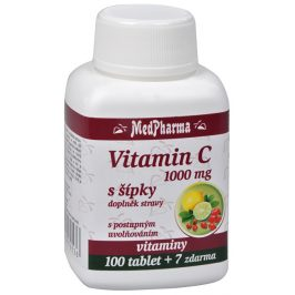 MedPharma Vitamín C 1000 mg s šípky 100 tbl. + 7 tbl. ZDARMA