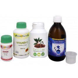 Sada Na Imunitu - Olimpex Cat´s Claw 150 tob. + Aurum Koloidní minerály 300 ml + Unios Pharma Vitamín C 1000 se šípkem 150 tbl. + Unios Pharma Zinek 15 mg