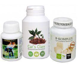 Sada Na Kůži - Olimpex Cat´s Claw 150 tbl.+ Natural Medicaments B-komplex Premium 120 tbl. + Natural Medicaments Symbi II 60 kapslí