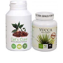 Doporučená kombinace produktů Na Detoxikaci - Cat´s Claw + Yucca