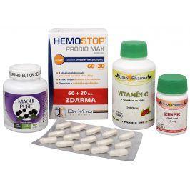 Sada Na Konečník - Maqui Pure 90 kapslí + HemoStop ProBio 60 + 30 tob + Unios Pharma Vitamín C 1000 mg se šípkem + Unios Pharma Zinek 15 mg ZDARMA