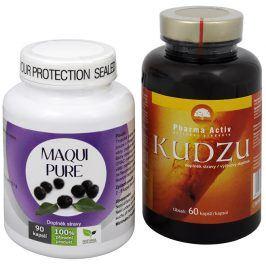 Sada Na Kouření - Natural Medicaments Maqui Pure 90 kapslí + Pharma Activ Kudzu 60 kapslí