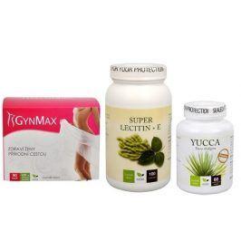 Doporučená kombinace produktů Detoxikace - Lecitin 3x silnější + Yucca + Gynmax