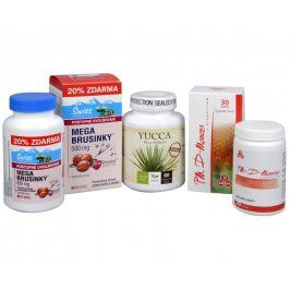 Doporučená kombinace produktů Mega Brusinky 500 mg + PM D-Manosa s propolisem + Yucca