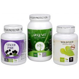 Doporučená kombinace produktů Maqui Pure + Regevit + Wild Yam