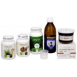 Doporučená kombinace produktů Na Únavu - Cordyceps Premium + Regevit + Koloidní minerály + Ostropestřecový olej (kaše) + Yucca