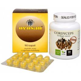 Sada Na Imunitu - Natural Medicaments Cordyceps Premium 90 kapslí + Areko Ovosan 90 kapslí