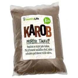 Country Life BIO Karobový prášek tmavý 500 g