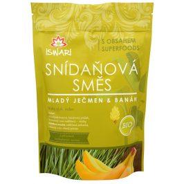 Iswari BIO Snídaňová směs Mladý ječmen, banán, naklíčená pohanka 3,2 kg