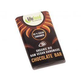Lifefood Bio Lifefood mini čokoládka 95% kakao a skořice 15g