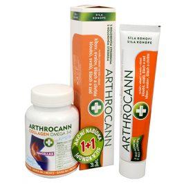 Annabis Arthrocann Collagen Omega 3-6 Forte 60 tbl. + Arthrocann - gel z konopí s koloidním stříbrem na klouby, svaly, šlachy 75 ml