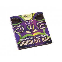 Lifefood Bio čokoláda z nepraženého kakaa 70% kakao chia raw 35g