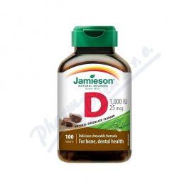 JAMIESON LABORATORIES JAMIESON Vitamín D3 1000IU čokoláda cucací tbl.100