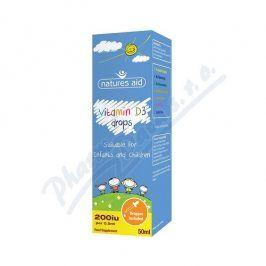 Natures Aid Ltd. Vitamín D3 kapky pro děti (400 IU) 50ml