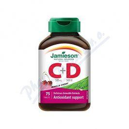 JAMIESON LABORATORIES JAMIESON Vitamíny C a D3 třešeň cucací tbl.75