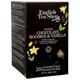 English Tea Shop Čaj Čokoláda rooibos & vanilka 20 pyramidek