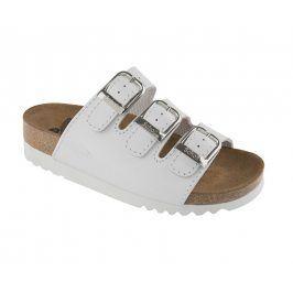 Scholl Zdravotní obuv RIO WEDGE AD Lea-W - bílá vel. 39