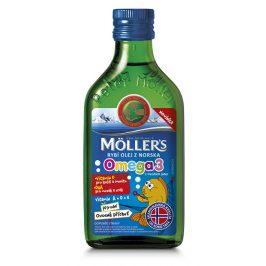Möller`s rybí olej Omega 3 z tresčích jater s ovocnou příchutí 250 ml