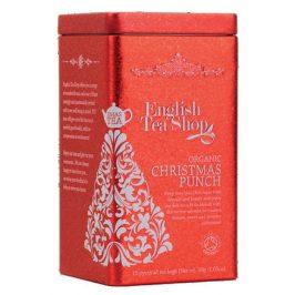 English Tea Shop Vánoční plechovka 15 hedvábných pyramidek - Vánoční punč Vánoční punč