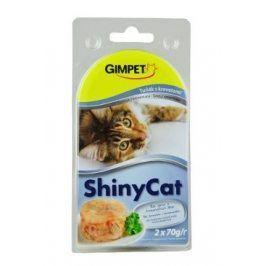 Gimpet kočka konz. ShinyCat tuňák/krevety 2x70g