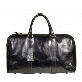 Černá cestovní taška do ruky Egisto Nero