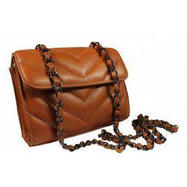 Plesová kožená kabelka Quartilla Camel
