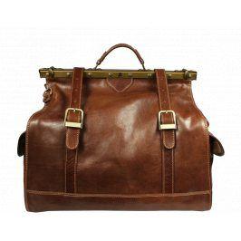 Velká kožená cestovní taška Sabrine Marrone