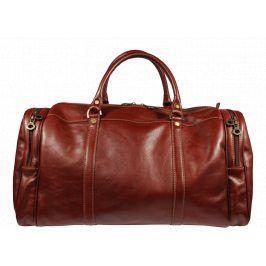 Kožená cestovní taška Saba Marrone