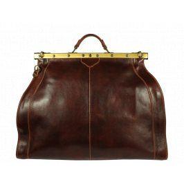 Italská kožená cestovní taška Medico Marrone