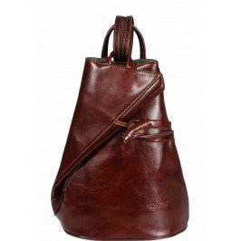 Italský hnědý kožený batůžky