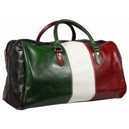 Barevná cestovní kožená taška Brunilde Bandiera Nera