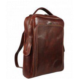Městský kožený batoh Velio Marrone