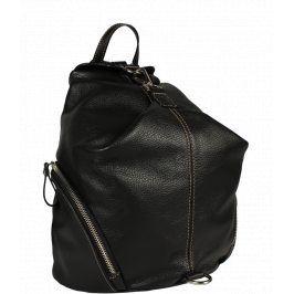 Dámský černý kožený batůžek Moira Nera