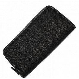 Černá kožená peněženka HS001 Nero