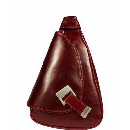 Kožený batůžek Appia Rossa