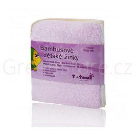 Bambusové koupací žínky, růžová T-tomi