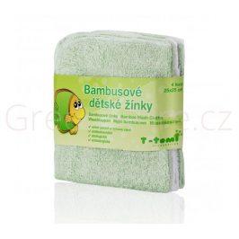 Bambusové koupací žínky, zelená T-tomi