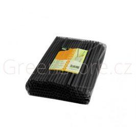 Bioplastová brčka ⌀8mm x 25cm - černá (500ks)