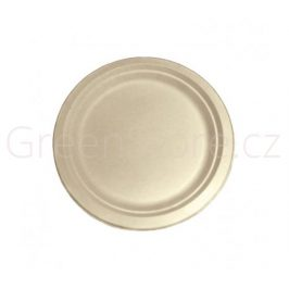 Kulatý talíř Natural 22cm z cukrové třtiny (50ks)