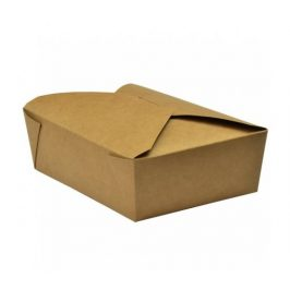 Papírový kraft box 1800ml - 19x14x6,5cm (180ks)