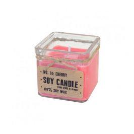 Svíčka ze sojového vosku kostka 160ml - višeň Aromka
