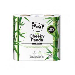 Cheeky Panda toaletní papír 3-vrstvý, 4 role, 200 útržků