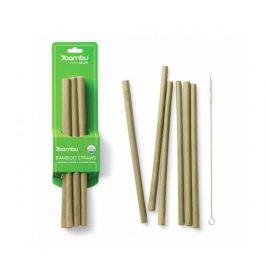 Bambusová brčka 6ks plus 1ks kartáček, délka 22cm, Bambu