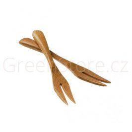 Vidlička z bambusu 9cm přírodní