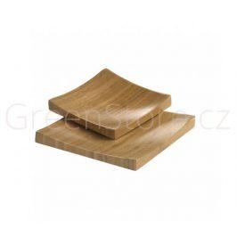 Tácek z bambusu 13x13x1,7cm přírodní