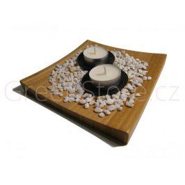 Tácek z bambusu 16x16x1,9cm přírodní