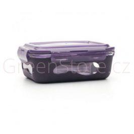 Skleněná dóza se silikonem 1l tmavě fialová U Konserve