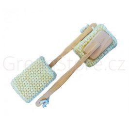 Koupelová sisalová kostka s rukojetí DOPRODEJ - 1ks