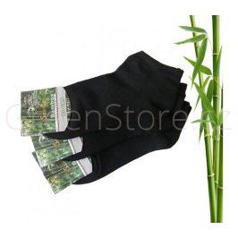 Bambusové ponožky dámské kotníkové, černé 39-42, 3 páry