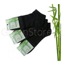 Bambusové ponožky pánské kotníkové, černé 40-43, 3 páry